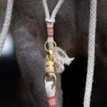 Halsring für Pferde, rot-gold, für Spanier
