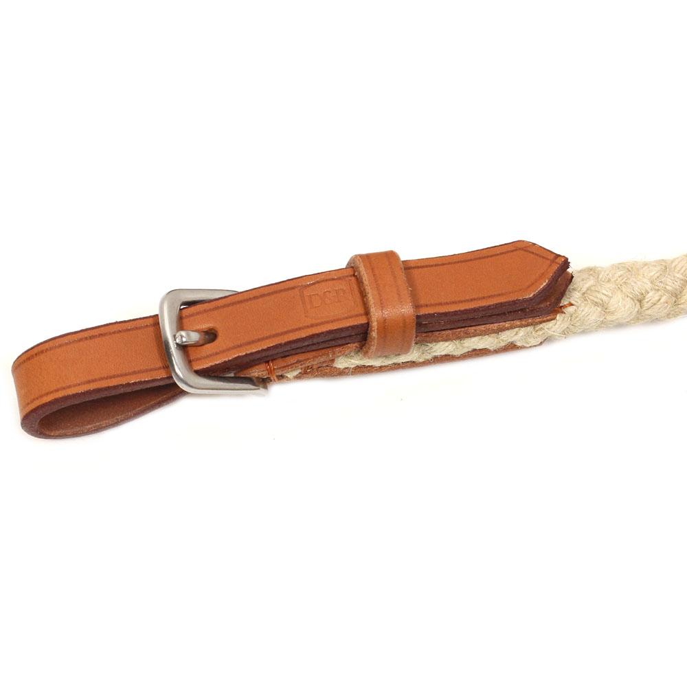 Leder-Schnalle mit Sicherheitsschlaufe, helles Leder, für Longen und Bodenarbeitsseile