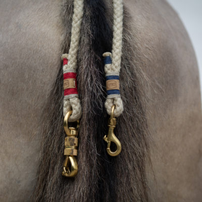 Halsring-Balancezügel-Pferd-Reiten-rot-blau