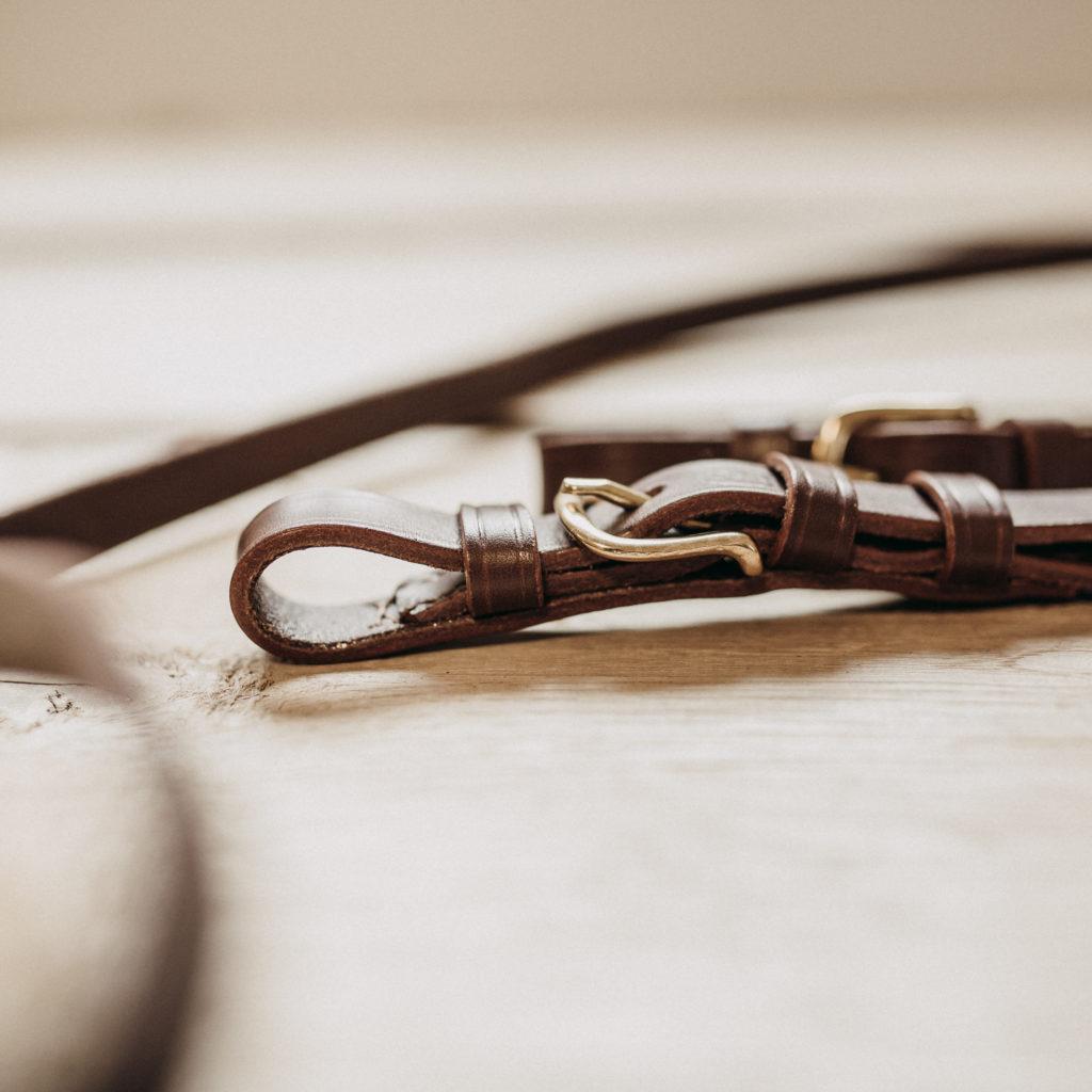 Lederzügel, pflanzlich gegerbtes Leder, auf Maß